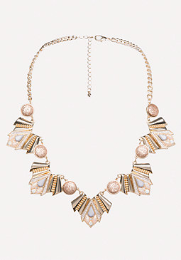 bebe Geo Statement Necklace