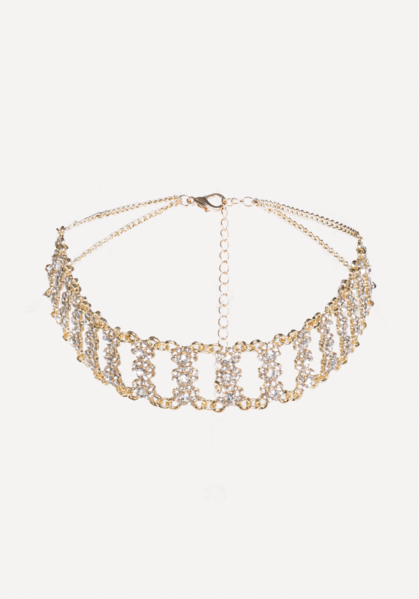Crystal & Gold Choker at bebe in Sherman Oaks, CA | Tuggl