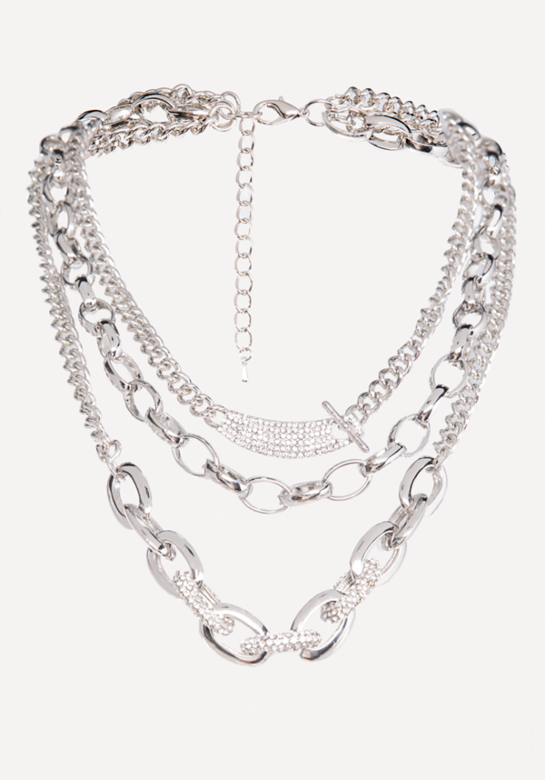 Triple Chainlink Necklace at bebe in Sherman Oaks, CA | Tuggl