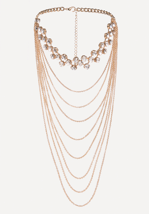 Draped Chain Crystal Choker at bebe in Sherman Oaks, CA | Tuggl