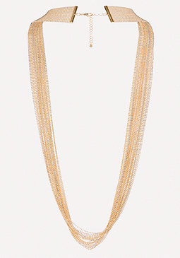 bebe Long Beaded Necklace