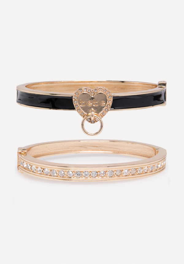 Logo Hinge Bracelet Set at bebe in Sherman Oaks, CA | Tuggl