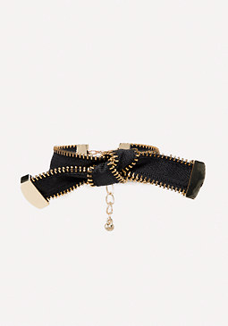 bebe Zipper Bow Bracelet