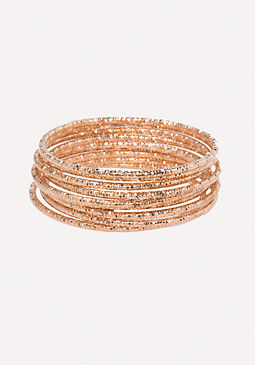 bebe Textured Bangle Set