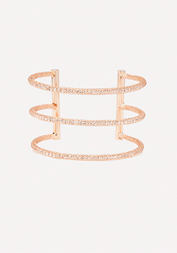 bebe Triple Bar Bling Cuff