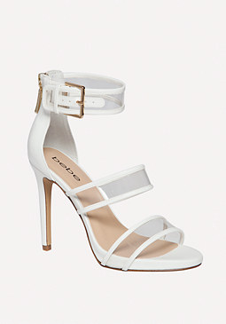 bebe Auhdrey Clear Strap Sandals
