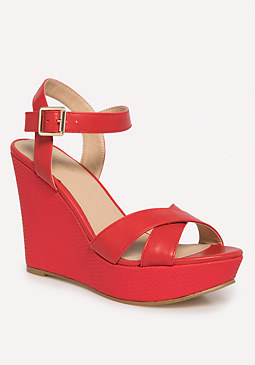 bebe Emma Wedge Sandals