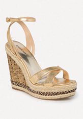 bebe Zuria Chain Wedge Sandals