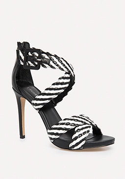 bebe Hana Basket Weave Sandals