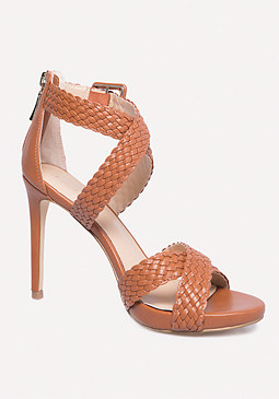 Hana Basket Weave Sandals at bebe