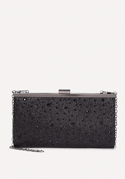 bebe Crystal Detail Clutch