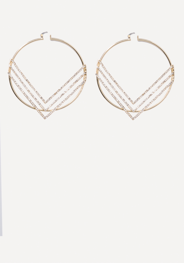 Chevron Hoop Earrings | Tuggl