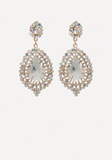 bebe Crystal Teardrop Earrings