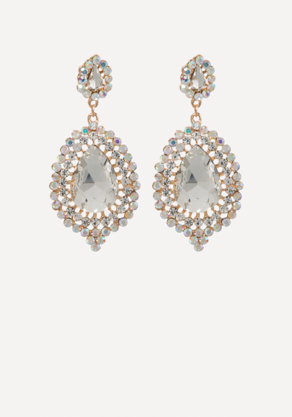 Crystal Teardrop Earrings | Tuggl