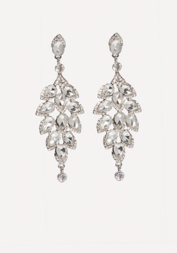 bebe Crystal Drop Earrings