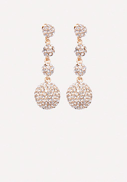 bebe Crystal Ball Earrings