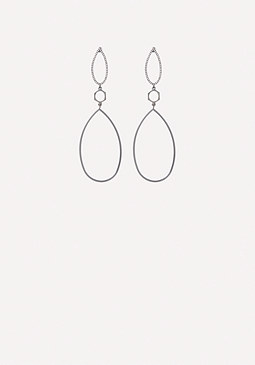 bebe Double Teardrop Earrings