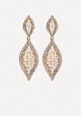 bebe Crystal & Pearl Earrings