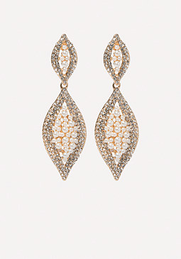 bebe Crystal & Pearl Earrings