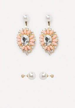 bebe Front-Back Earring Set