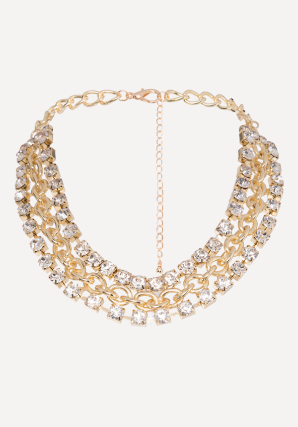 Crystal Chain Necklace | Tuggl