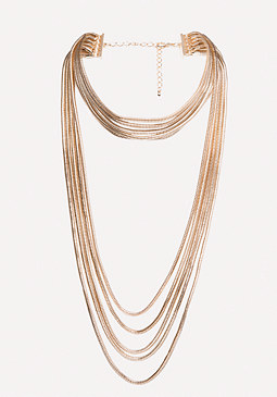 bebe Layered Chain Necklace