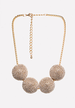 bebe Multi-Ball Necklace