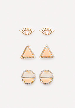 bebe Triple Stud Earring Set