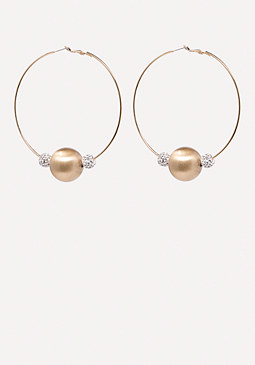 bebe Bead Hoop Earrings