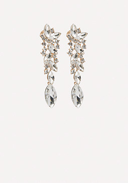 bebe Ornate Linear Earrings