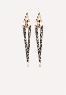 bebe Crystal Triangle Earrings