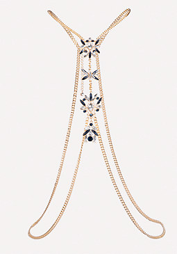 bebe Ornate Jewel Body Chain