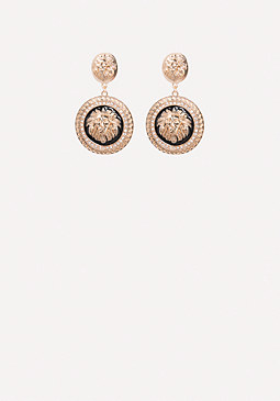 bebe Lion Medallion Earrings
