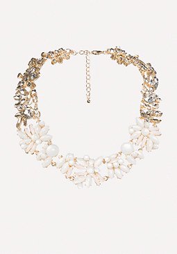 bebe Floral Statement Necklace