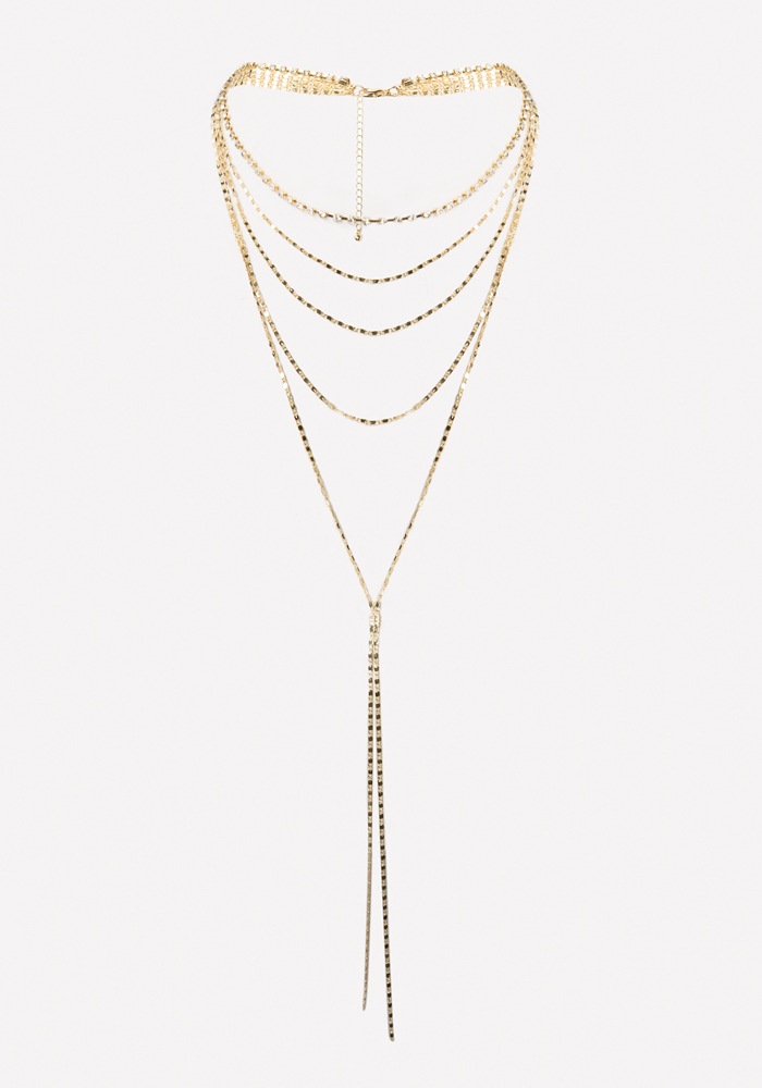 Layered Chain Necklace by Bebe