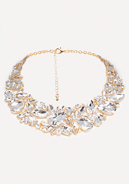 bebe Crystal Statement Necklace