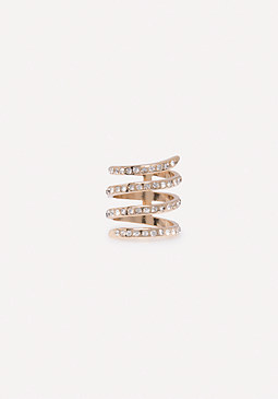 bebe Crystal Wrap Around Ring