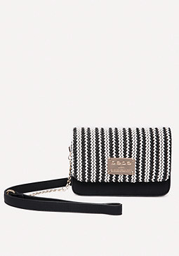 bebe Basketweave Crossbody Bag