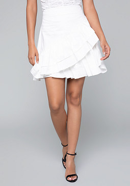 bebe Ruffle Tiered Skirt