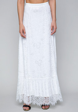 bebe Scallop Lace Maxi Skirt