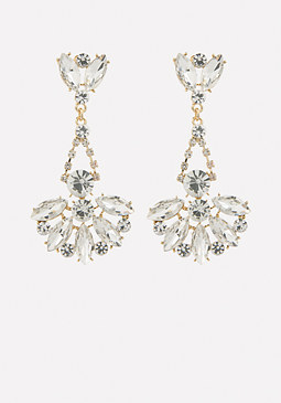 bebe Gold & Crystal Earrings