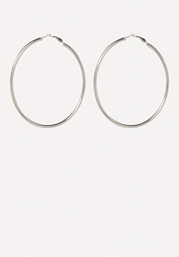 bebe Silver Hoop Earrings