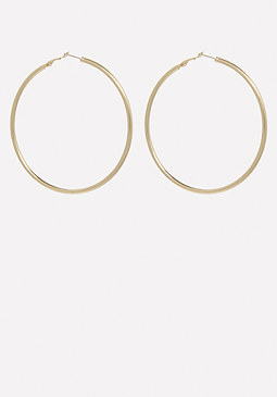 bebe Classic Gold Hoop Earrings