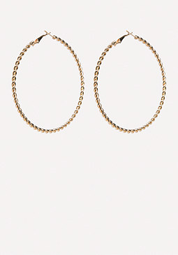 bebe Gold Twist Hoop Earrings
