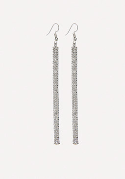 bebe Silver & Crystal Earrings