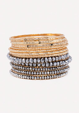 bebe Mixed Metal Bangle Set