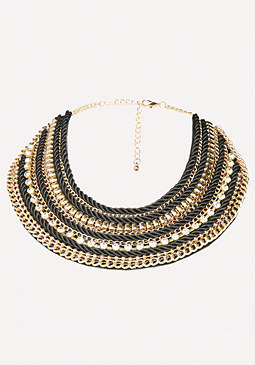 bebe Chain Collar Necklace