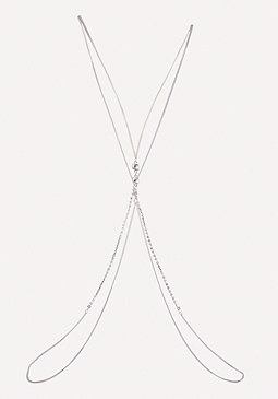 bebe Crystal Accents Body Chain