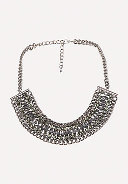 Crystal Chain Necklace at bebe