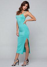 bebe Logo Braid Strap Maxi Dress